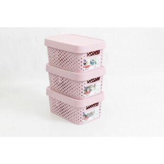 Infinity 3 db-os kosár szett 4,5L Pink